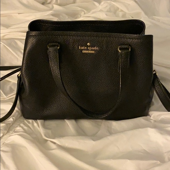 kate spade Handbags - Kate Spade black and gold medium satchel